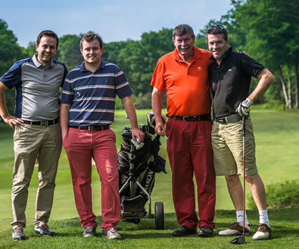 Golf group of four men