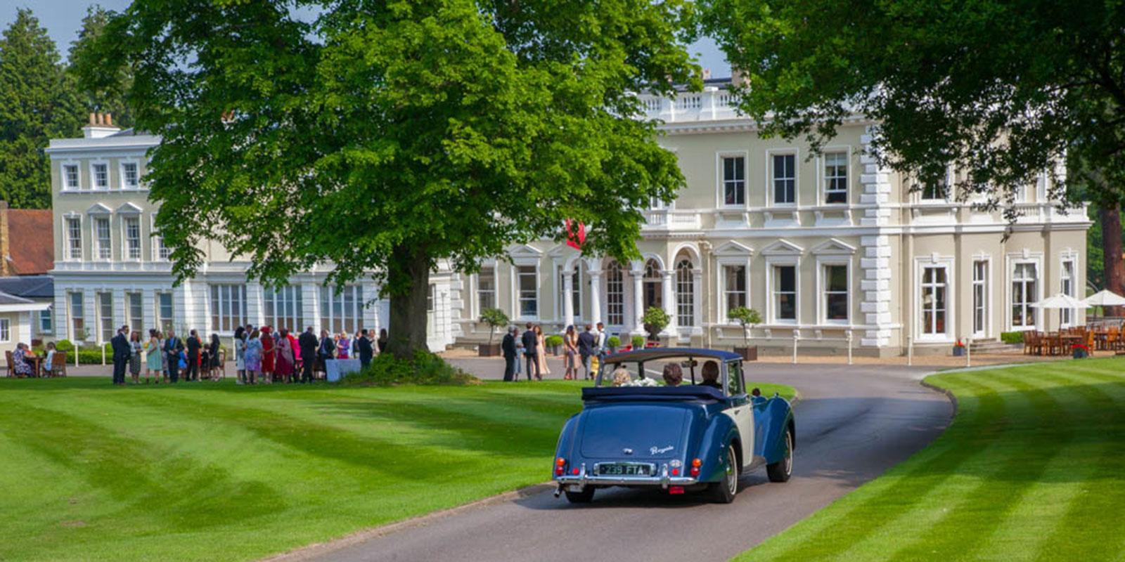 Burhill driveway wedding